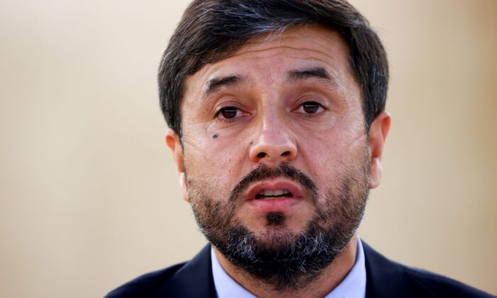 Afghanistan Ambassador Nasir Ahmad Andisha speaks during a special session of the Human Rights Council on the situation in Afghanistan, at the European headquarters of the United Nations in Geneva, Switzerland, on Aug. 24, 2021. (Denis Balibouse/Reuters)
