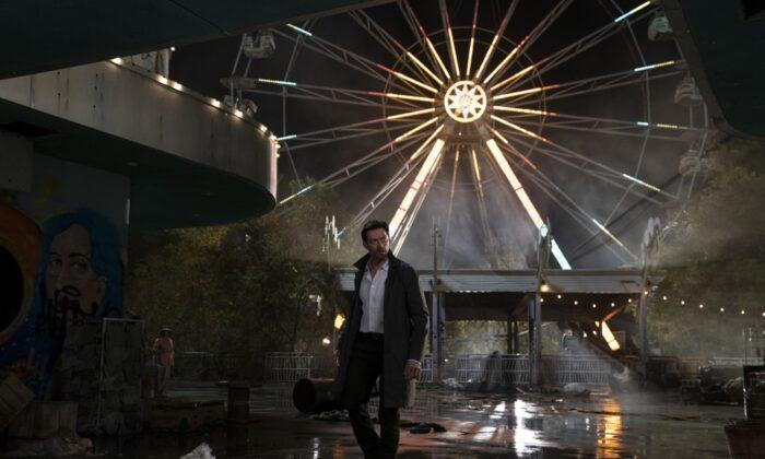 "Hugh Jackman as Nick Bannister in Warner Bros. Pictures' action-thriller ""Reminiscence."" (Ben Rothstein/2021 Warner Bros. Entertainment Inc.)"