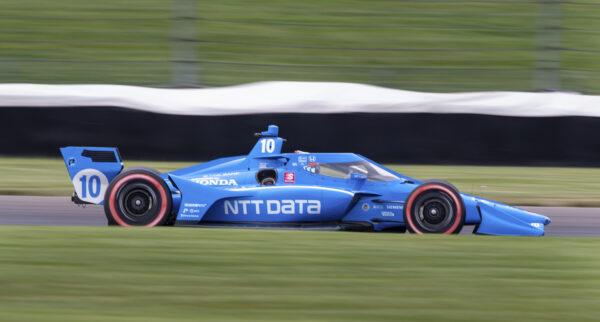 Alex Palou drives along the course