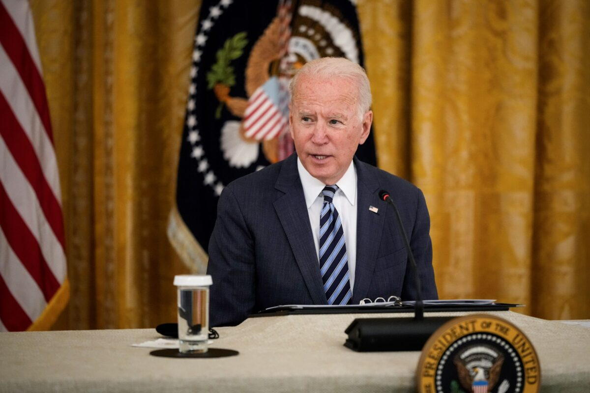 President Biden Meets With Advisors And Experts On Improving Nation's Cybersecurity WASHINGTON, DC