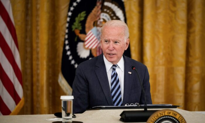 U.S. President Joe Biden speaks during a meeting about cybersecurity in the East Room of the White House on August 25, 2021 in Washington, DC. (Drew Angerer/Getty Images)