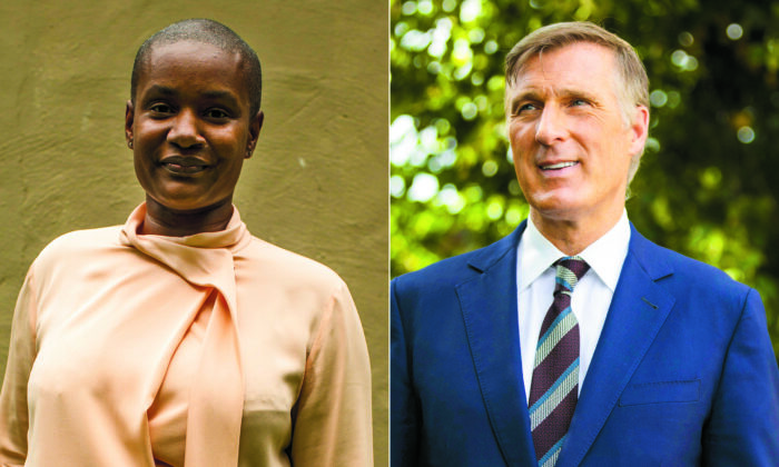 Green Party Leader Annamie Paul (L) and People's Party of Canada Leader Maxime Bernier. (The Canadian Press)