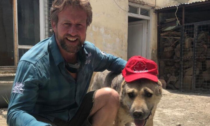 Paul Farthing, also known as Pen Farthing, in an undated image from his animal shelter in Kabul, Afghanistan. (PA Media)