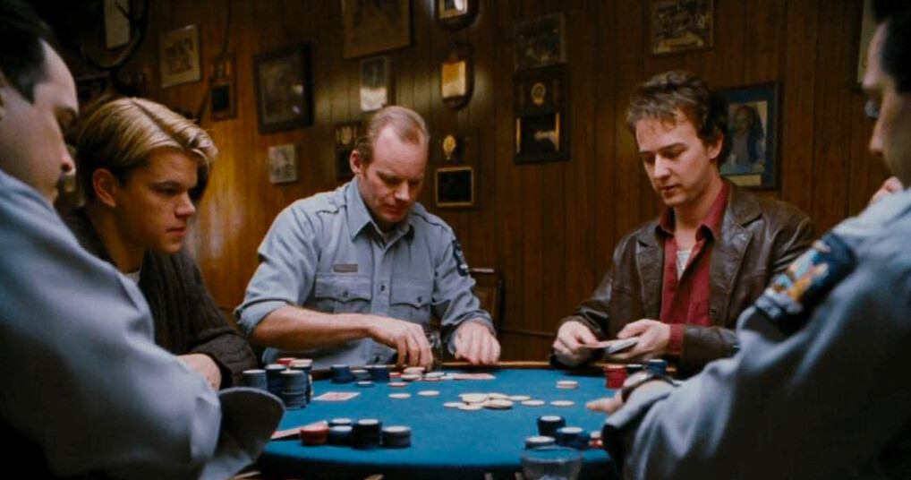 state troopers in a poker game in ROUNDERS