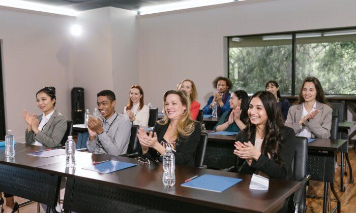 Adults in classroom. (Pexels)