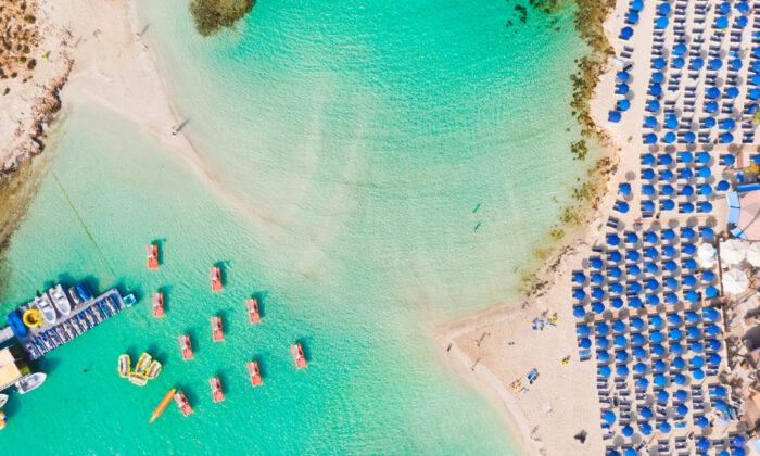 Nissi Beach in Ayia Napa, Cyprus. (Fluieras Ana-Cristina/Shutterstock)
