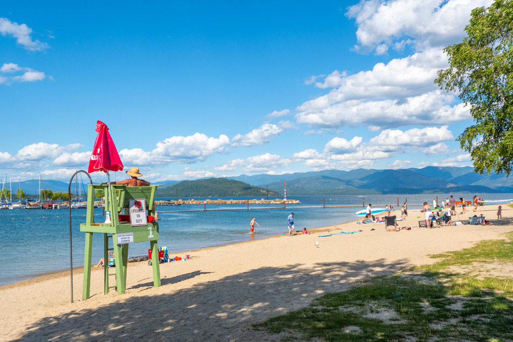 Sandpoint,Idaho,-,August,1,2020:,A,Male,Lifeguard,Sits