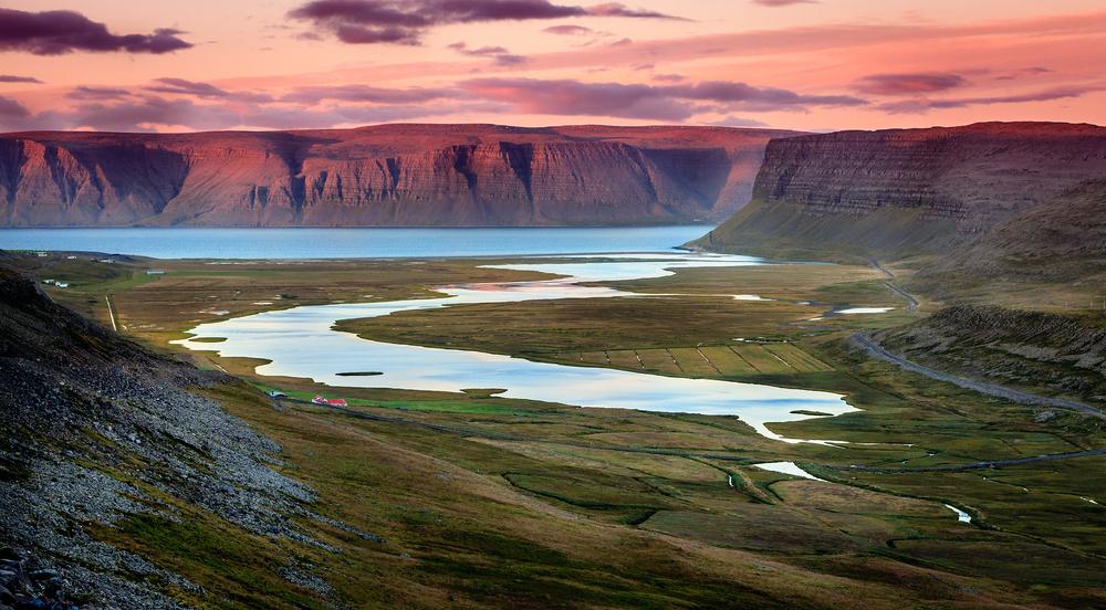 Westfjords,In,Iceland,At,Sunset