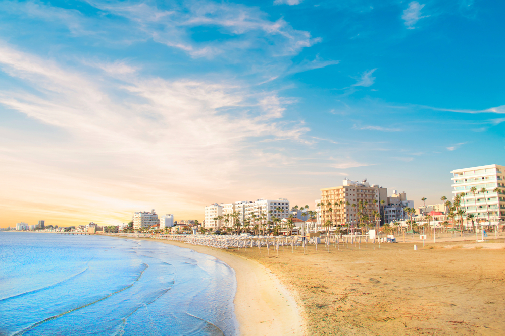 Beautiful,View,Of,The,Main,Street,Of,Larnaca,And,Phinikoudes