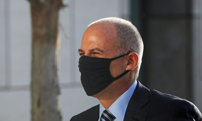 Attorney Michael Avenatti arrives for the opening of his trial at the United States Courthouse in Santa Ana, Calif., on July 20, 2021. (David Swanson/Reuters)