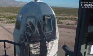 Blue Origin Launches Artwork, Moon-Landing Test Into Space