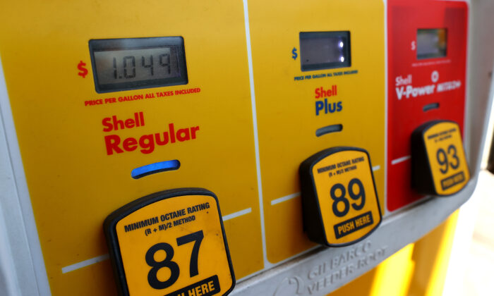 A gas pump is shown on May 07, 2020 in Baltimore, Maryland. (Rob Carr/Getty Images)