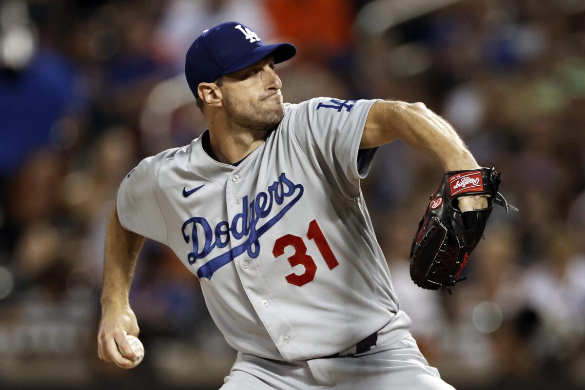 Dodgers pitcher Max Scherzer