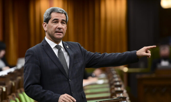 Conservative MP Pierre Paul-Hus rises during question period in the House of Commons on Parliament Hill in Ottawa on May 14, 2021. (The Canadian Press/Sean Kilpatrick)