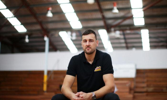 Andrew Bogut at Auburn Basketball Centre in Sydney, Australia, on March 20, 2020. (Matt King/Getty Images)