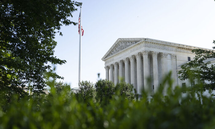 A view of the U.S. Supreme Court in Washington, on June 28, 2021. (Drew Angerer/Getty Images)