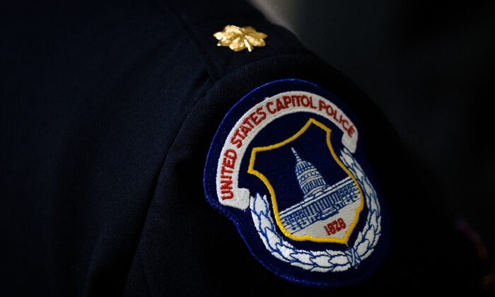 A U.S. Capitol Police badge is seen in a file photograph. (Drew Angerer/Getty Images)