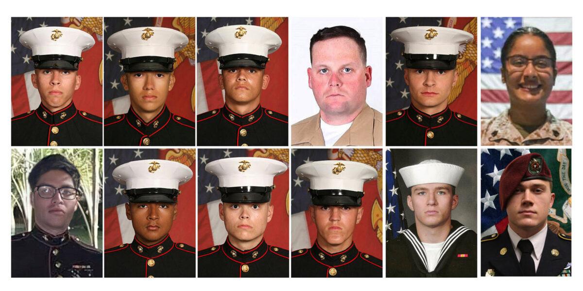 twelve service members killed in kabul