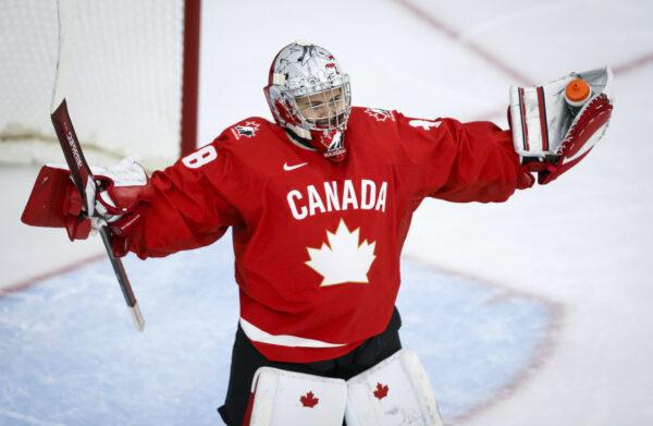 Canada's goalie Emerance Maschmeyer