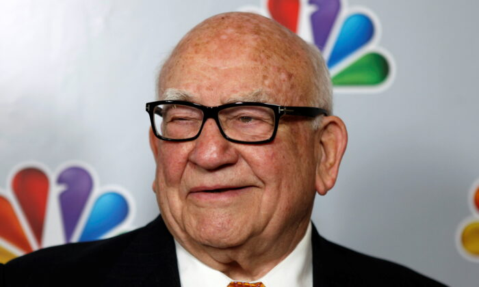 """Actor Ed Asner arrives for the taping of """"Betty White's 90th Birthday: A Tribute to America's Golden Girl"""" in Los Angeles on January 8, 2012. (Sam Mircovich/Reuters)"""