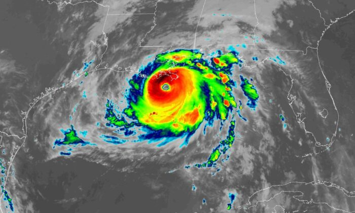 This satellite image provided by NOAA shows Hurricane Ida, on Aug. 29, 2021, at 7:51 a.m. ET. (NOAA)