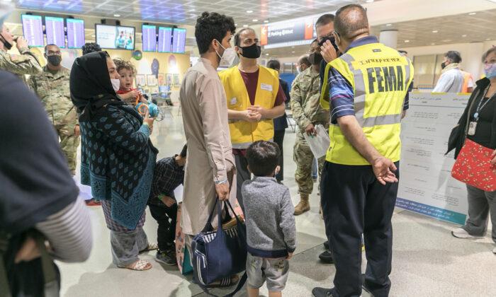 Scenes from the Philadelphia International Airport as Afghan evacuees enter. (City of Philadelphia)