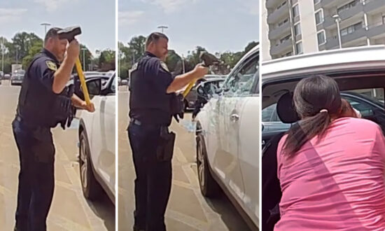 Mom Accidentally Locks Baby in Hot Car With Keys, Calls Police Who Smash Window to Save Her