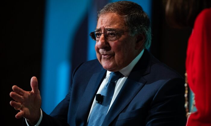 Leon Panetta, former U.S. Defense Secretary and former director of the Central Intelligence Agency, speaks during a discussion on countering violent extremism, at the Ronald Reagan Building and International Trade Center in Washington on Oct. 23, 2017. (Drew Angerer/Getty Images)
