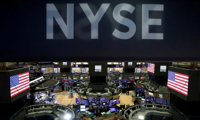 The floor of theNewYorkStockExchange(NYSE) after the close of trading inNewYork on March 18, 2020. (Lucas Jackson/Reuters)