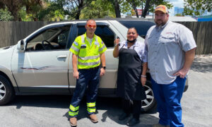 Woman Has to Sell Broken Down Car for Scrap, Ubers and Walks to Work—Until Sheriff Gives Her New Car
