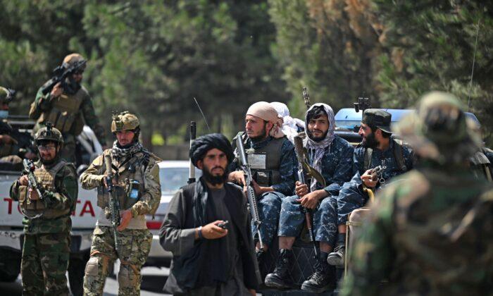 Taliban terrorists in Kabul, Afghanistan, on Aug. 29, 2021. (Aamir Qureshi/AFP via Getty Images)