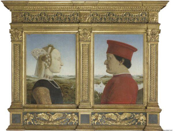 Battista Sforza and Federico da Montefeltro - Piero della Francesca