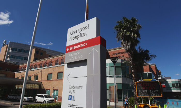 A general view of Liverpool Hospital as seen in Sydney, Australia, on Oct. 10, 2020. (Lisa Maree Williams/Getty Images)