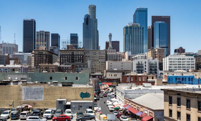 Downtown Los Angeles on June 9, 2021. (John Fredricks/The Epoch Times)