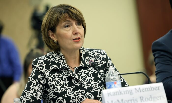 U.S. Rep. Cathy McMorris Rodgers (R-Wash.) at the U.S. Capitol on June 29, 2021. (Kevin Dietsch/Getty Images)