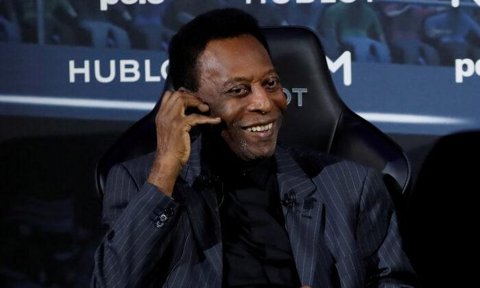 Brazilian soccer legend Pele is seen in Paris, on April 2, 2019. (Christian Hartmann/Reuters)