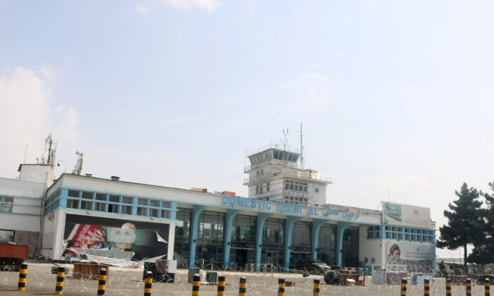 An empty domestic terminal is seen a day after the U.S. troops withdrawal from Hamid Karzai international airport in Kabul, Afghanistan on Aug. 31, 2021. (Stringer/Reuters)