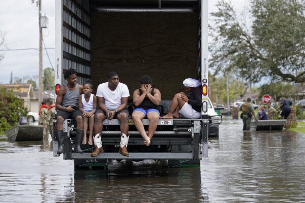 People are evacuated from floodwaters