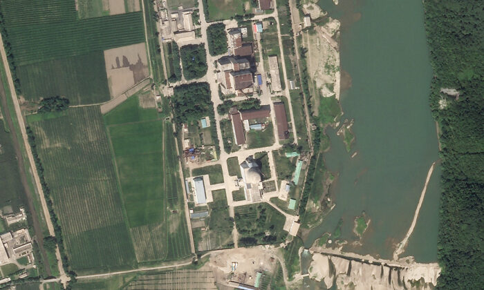 North Korea's main nuclear complex is seen in Yongbyon, North Korea, on July 27, 2021. (Planet Labs Inc. via AP)