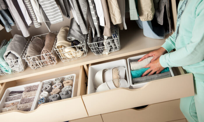 Let your rooms, closets, and drawers appear serene and controlled. (Kostikova Natalia/Shutterstock)