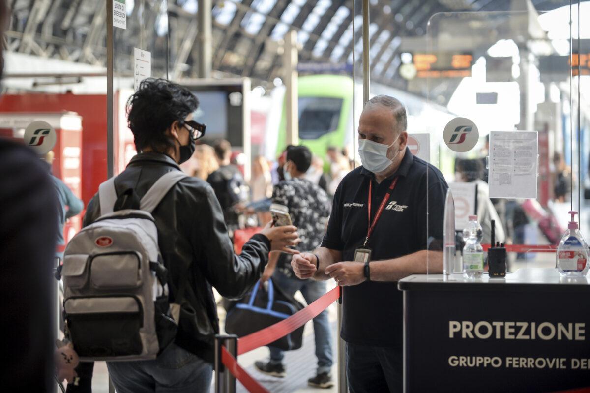 Virus Outbreak Italy Travel Passes