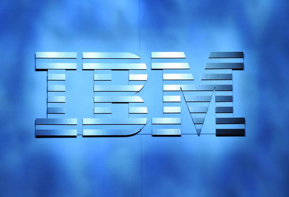 An IBM logo