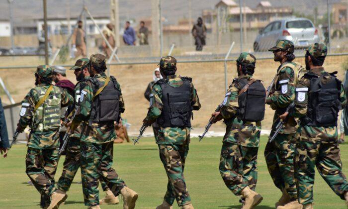 Taliban terrorists patrol in Kandahar, Afghanistan, on Sept. 1, 2021. (Javed Tanveer/AFP via Getty Images)