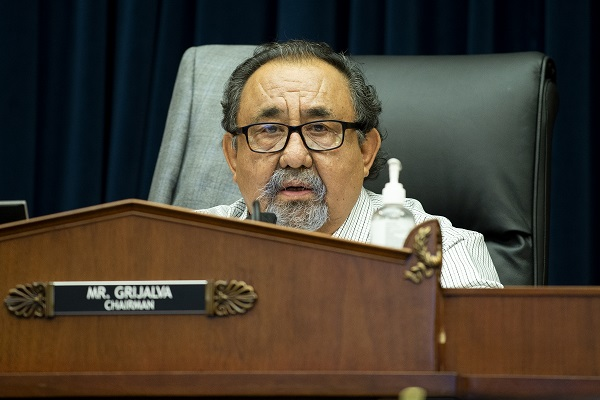 U.S. House Natural Resources Committee Chairman Raul Grijalva (D-Ariz.) on Capitol Hill on June 29, 2020. (Bonnie Cash-Pool/Getty Images)