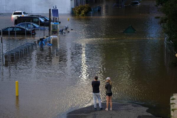 flooded street in Philadelphia