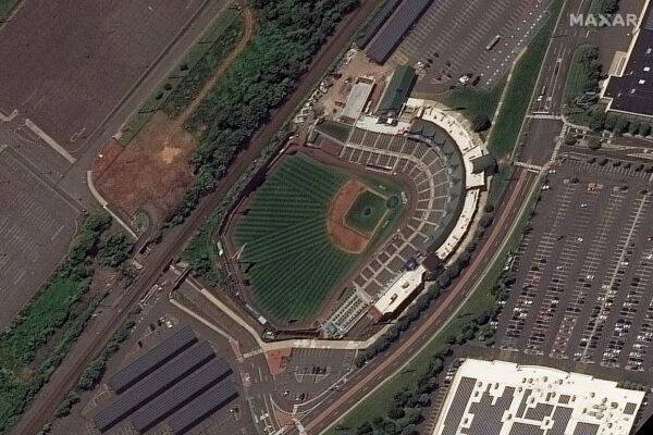 The Bank Ballpark before flooding