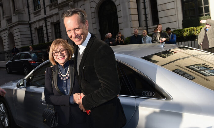 Joan Washington (L) and Richard E. Grant attend the Jameson Empire Awards 2016 at The Grosvenor House Hotel in London, England, on March 20, 2016. (Gareth Cattermole/Getty Images)