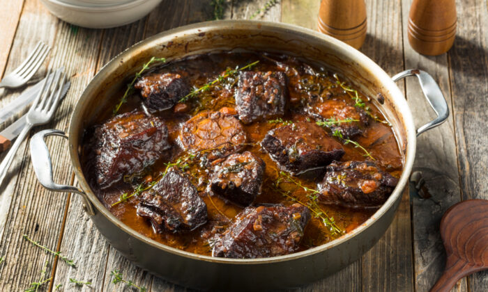 Short ribs are excellent for slow-cooked braises.  long cook time delivers flavor and fall-off-the-bone meat. (Brent Hofacker/Shutterstock)