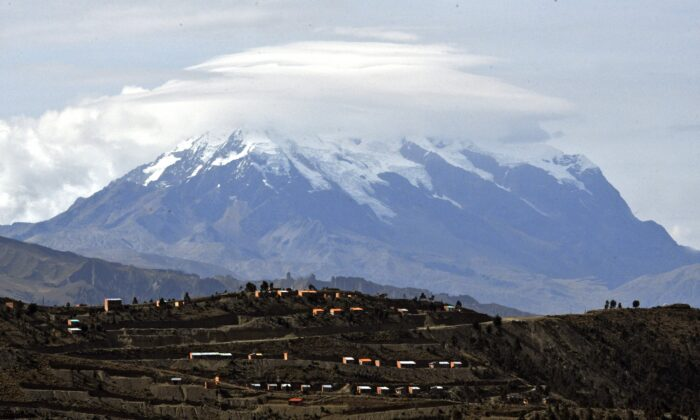 View of the Illimani mountain as seen from El Alto, Bolivia, on May 22, 2020. (Aizar Raldes/AFP via Getty Images)