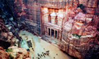 Once-Lost Ancient City Carved out of Red Sandstone Cliffs Is Among the New Wonders of the World